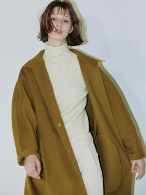 Clo long handmade coat  OLIVE