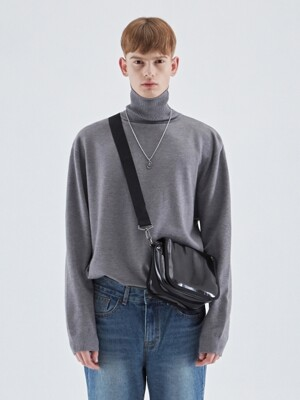 MOIST TOUCH TURTLENECK KNIT_GRAY