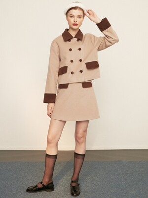 [EXCLUSIVE] wool pocket skirt_brown