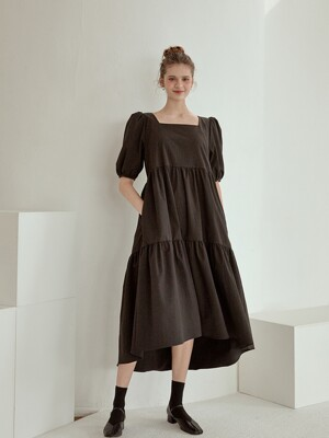lovely shirring long dress[3color]