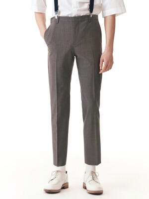 Lightweight Slim-Tapered Italian Fabric Suit Trousers_3color