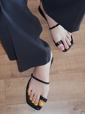 Y.01 Jane candy back T sandals / YY20S-S48 Black