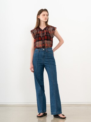 SEMI WIDE DENIM PANTS (JTSS120)