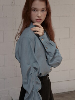 J539 sand blouse (blue)