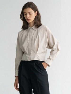 20FW CROPPED SHIRT (TAUPE GRAY)