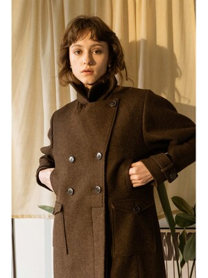 JOE PEA COAT BROWN