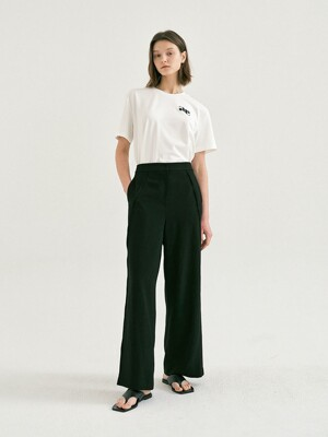 SEAM WIDE PANTS (Black)