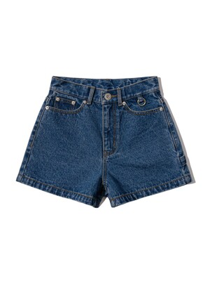 SWIVEL SNAP DENIM SHORTS [BLUE]