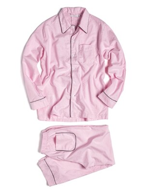(M) Woody PJ Set Oxford Pink