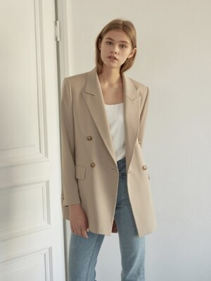 Peaked Lapel Double Jacket [BE]