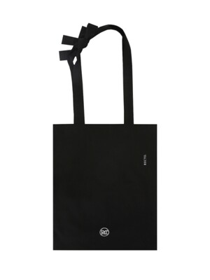 TIE KNOT COTTON BAG (BLACK)