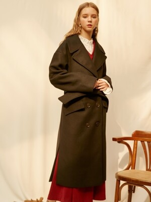 monts844 blet detail double long coat (black)