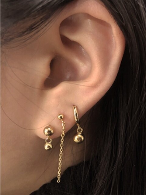 78 Lolo Layered Silver Earring