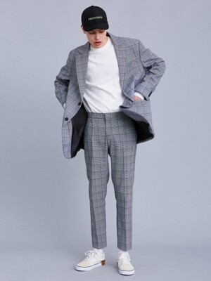 V258 CHECK CROP SLACKS_CHECK
