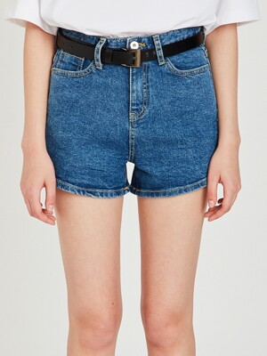 MG9S DENIM BASIC SHORTS (BLUE)