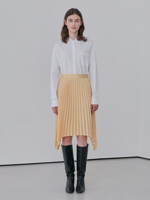 A ASYMMETRIC PLEATS SK_YELLOW