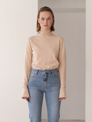 19FW WOOL TURTLENECK KNIT BEIGE