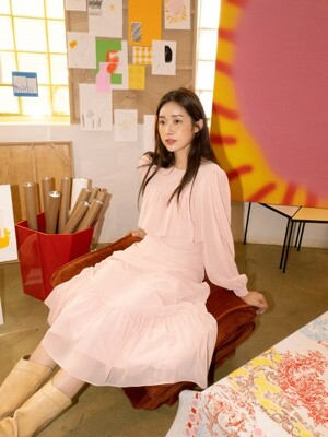 [EXCLUSIVE] CHIFFON CANCAN DRESS - PINK