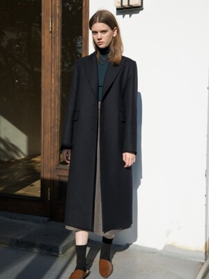 Wool Single Long Jacket