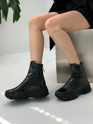 Basic Back Zipper Soft Ankle Boots