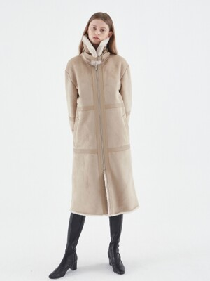 FUR MUSTANG COAT_BEIGE