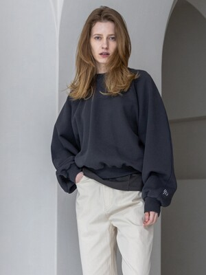 Oversized Sweat Shirts_Melange light grey