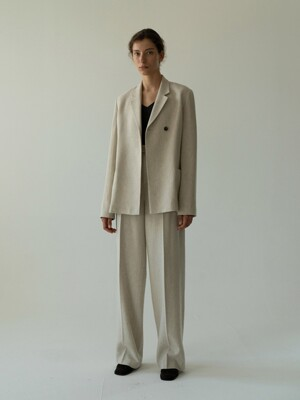 wool blend jacket (oatmeal)
