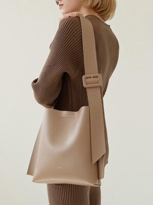 ARC SMALL BUCKET _ Artificial Leather_TAUPE