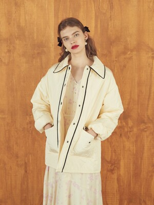PIPING PADDED JUMPER - IVORY