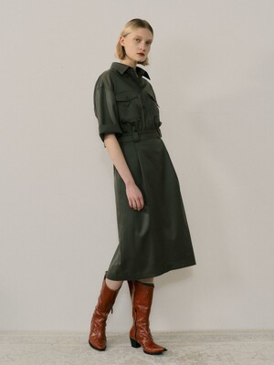TWO PIECE FORMAL DRESS - KHAKI