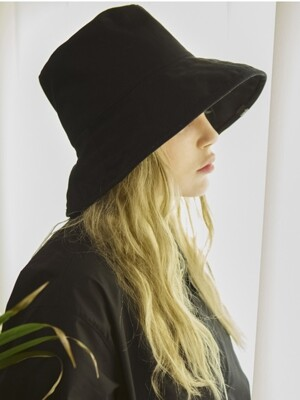 UNISEX OVER BUCKET HAT[BLACK]
