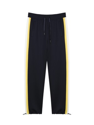 ORDINARY SIDE COLOR BLOCK NAVY TRAINING PANTS