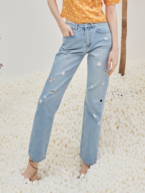 comos'2 bullet straight jeans