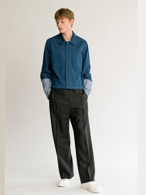 FW18 PINTUCK WOOL TROUSER (M)