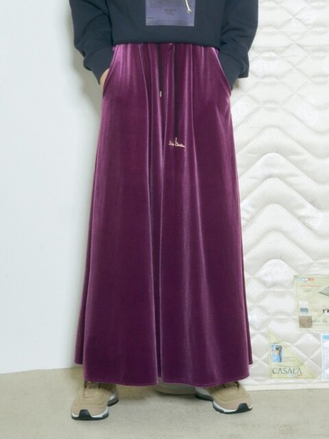 BABY VELVET SLIT SKIRT [PURPLE]