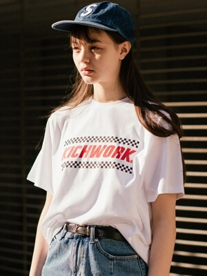 18 SS Checkerboard Logo T_White