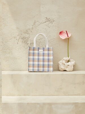 Woven tote bag - SKY BLUE