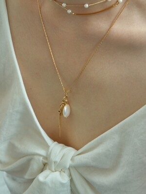 `drop` water pearl necklace_pearl
