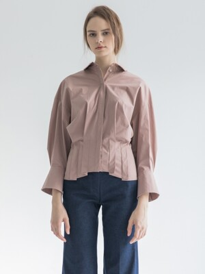 [19FW]Pleats Shirts_Indigo Pink
