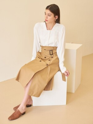 TRENCH SKIRT BEIGE