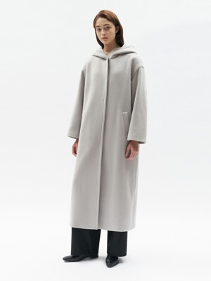 HOODED COAT WOMEN [GRAY]