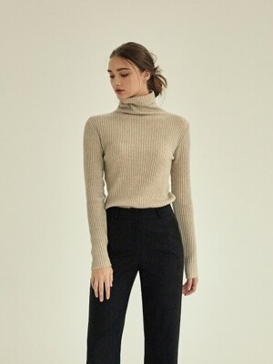 simple golgi turtleneck knit [beige]