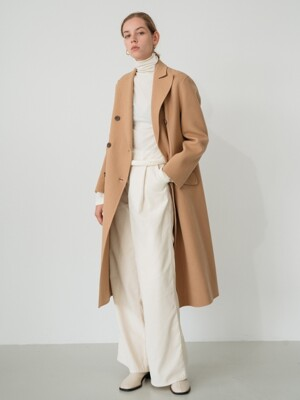handmade double coat (beige)