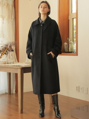 OVERFIT RAGLAN SINGLE COAT_NAVY