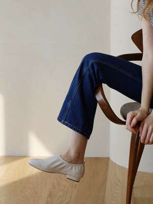 deil flat shoes - ivory