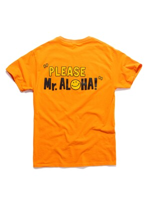 ALOHA HOUSE TEE (80's POP ORANGE)