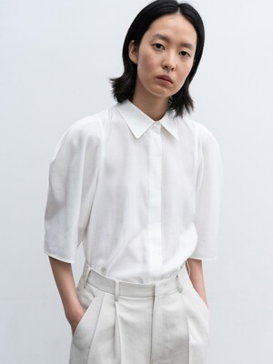 20SUMMER PUFF-SLEEVE SHIRT (WHITE)