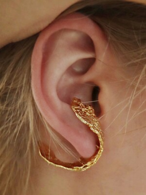 texture ear-cuff 1 piece (gold)