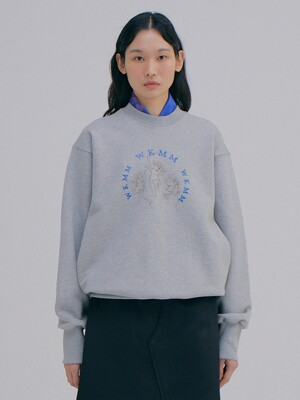 Angel Logo Sweat shirts_Melange Grey