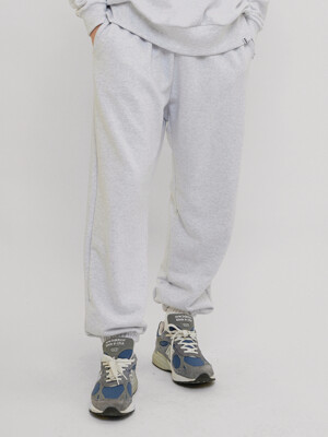 PL118_Sweat Jogger Pants_Light Melange